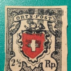 Sellos: SUIZA 1850. ORTS POST 2,5 RP. YVERT 17.. Lote 169707106