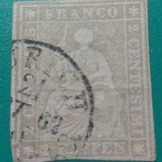 Sellos: SUIZA 1854-62. FIGURA ALEGÓRICA. YVERT 25.. Lote 169771170