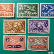Sellos: SUIZA 1923-33. AÉREO. YVERT 3/9*.. Lote 169939529