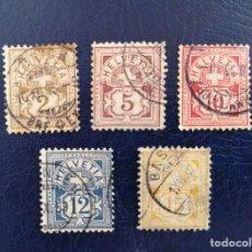 Sellos: SUIZA 1882 WHITE PAPER,1906 MARCA DIFERENTE.STAMPWORLD NÚMERO DE CATALOGO:52/56 Y 79/84. Lote 170079296