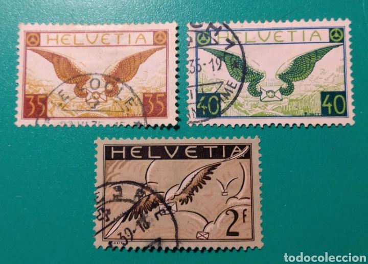 SUIZA 1929-1937. AÉREO. YVERT 13/15. (Sellos - Extranjero - Europa - Suiza)