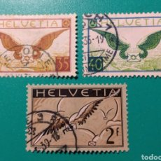 Sellos: SUIZA 1929-1937. AÉREO. YVERT 13/15.. Lote 170133865