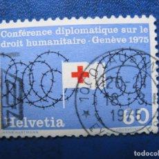 Sellos: SUIZA, 1975 CONFERENCIA SOBRE LOS DERECHOS HUMANOS. Lote 170211620