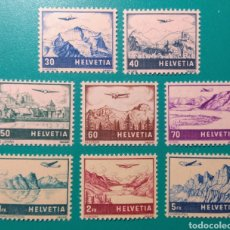 Sellos: SUIZA 1941. YVERT AÉREO 27/34**,. Lote 170226174