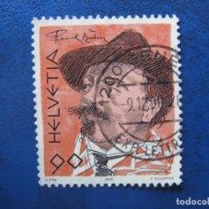 Sellos: SUIZA, 1990, SELLO USADO. Lote 170265944
