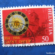 Sellos: SUIZA, 1984 SAINT IMIER. Lote 170266920