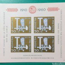 Sellos: SUIZA 1960. PRO PATRIA. HB YVERT 17**.. Lote 170388513