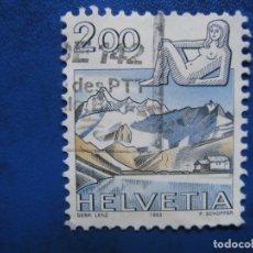 Sellos: SUIZA, 1983, SELLO USADO. Lote 171221122