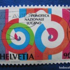 Sellos: SUIZA, 1989 FONOTECA NACIONAL, LUGANO. Lote 171221200