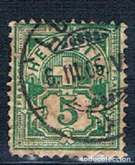 SUIZA 1882 A 1906 ARMARIOS USADO MICHEL 84 HILOS (Sellos - Extranjero - Europa - Suiza)
