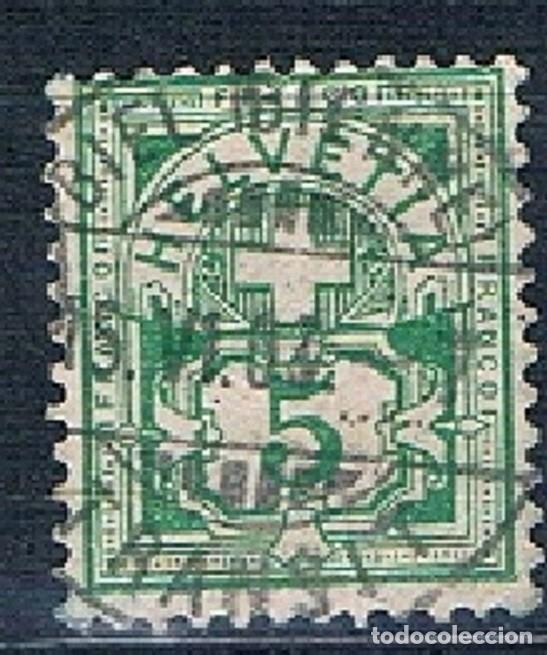 SUIZA 1882 A 1906 ARMARIOS USADO MICHEL 53Y CON FILAMENTOS (Sellos - Extranjero - Europa - Suiza)