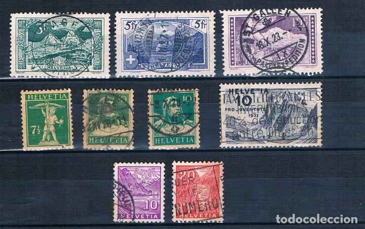 SUIZA 1914 A 1934 VARIOS USADOS BONITOS MATASELLOS (Sellos - Extranjero - Europa - Suiza)