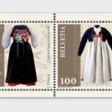Sellos: SWITZERLAND 2019 - TRADITIONAL SWISS COSTUMES. Lote 178989818
