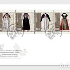 Sellos: SWITZERLAND 2019 - TRADITIONAL SWISS COSTUMES FDC. Lote 178989843