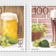 Sellos: SWITZERLAND 2019 - THE ART OF BREWING BEER STAMP SET MNH. Lote 178989896
