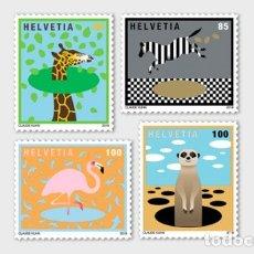 Sellos: SWITZERLAND 2019 - ANIMALS AROUND THE WORLD STAMP SET MNH. Lote 178989981