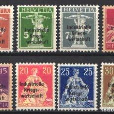 Sellos: SUIZA, SERVICIO, 1918 YVERT Nº 9 / 16 /*/ . Lote 179022517