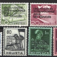 Sellos: SUIZA, SERVICIO, 1950 YVERT Nº 354 / 361 /*/ . Lote 179022661