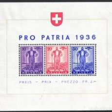 Sellos: SUIZA, 1936 YVERT Nº 2 /*/. Lote 179022883