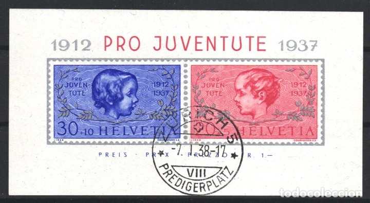 SUIZA, 1937 YVERT Nº 3 (Sellos - Extranjero - Europa - Suiza)