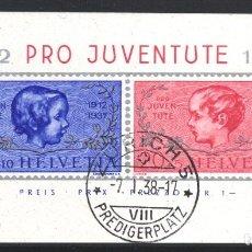 Sellos: SUIZA, 1937 YVERT Nº 3. Lote 179022921