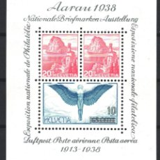 Sellos: SUIZA, 1938 YVERT Nº 4 /**/, SIN FIJASELLOS. Lote 179023011