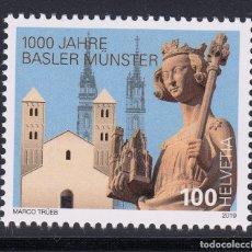 Sellos: SUIZA 2019 1000 AÑOS DE LA CATEDRAL DE BASEL. Lote 179024483