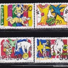 Sellos: SUIZA 1992 TEMA EL CIRCO NUEVO ** (NMH) FACIAL 2,90 CHF - LOTE - 78 - H. Lote 179049482