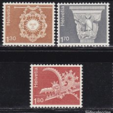 Sellos: SUIZA 1973 SERIE DEFINITIVA ** (NMH) FACIAL 4,80 CHF - LOTE - 78 - J. Lote 179049576