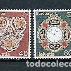 Sellos: SUIZA,1976,ARTESANÍA,YVERT 1003-1004,NUEVOS,MNH**. Lote 179334115