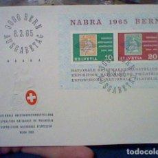 Sellos: EXPOSICION FILATELICA BERNA SUIZA 1965 8 MARZO 65 SELLO SOBRE BONITO . Lote 180348358