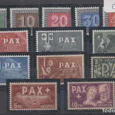 Sellos: SUIZA=YVERT Nº 405/17_PAX-PAZ_NUEVOS SIN FIJASELLOS_CATALOGO:500 EUROS_VER FOTO. Lote 183409502