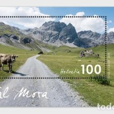 Sellos: SWITZERLAND 2019 - TYPICAL SWISS COUNTRYSIDE - VAL MORA - M/S MINY. Lote 183868925