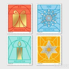 Sellos: SWITZERLAND 2019 - CHRISTMAS 2019 STAMP SET MNH. Lote 183868970