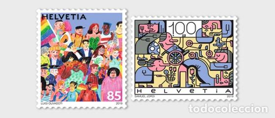SWITZERLAND 2019 - JOINT ISSUE SWITZERLAND-LIECTENSTEIN, SOCIAL DIVERSITY STAMP SET MNH (Sellos - Extranjero - Europa - Suiza)