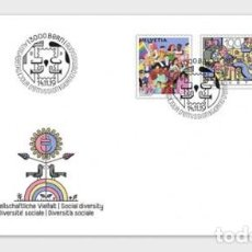 Sellos: SWITZERLAND 2019 - JOINT ISSUE SWITZERLAND-LIECTENSTEIN, SOCIAL DIVERSITY FDC. Lote 183869025