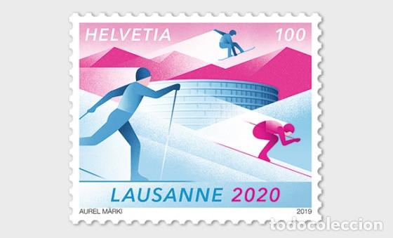 Sellos: Switzerland 2019 - Winter Youth Olympic Games 2020 mnh - Foto 1 - 183869046