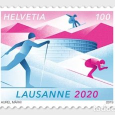 Sellos: SWITZERLAND 2019 - WINTER YOUTH OLYMPIC GAMES 2020 MNH. Lote 183869046