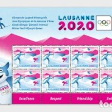 Sellos: SWITZERLAND 2019 - WINTER YOUTH OLYMPIC GAMES 2020 SHEETLET MNH. Lote 183869076