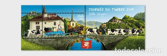 SWITZERLAND 2019 - STAMP DAY 2019 BULLE - M/S MINT (Sellos - Extranjero - Europa - Suiza)