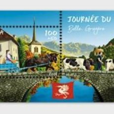 Sellos: SWITZERLAND 2019 - STAMP DAY 2019 BULLE - M/S MINT . Lote 183869108