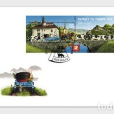 Sellos: SWITZERLAND 2019 - STAMP DAY 2019 BULLE FDC. Lote 183869120