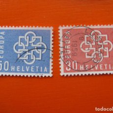 Timbres: -SUIZA 1959, EUROPA, YVERT 630/31. Lote 190706196