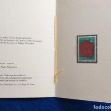 Sellos: SUIZA. HELVETIA, 1983. DOCUMENTO DEL 1 DIA. SELLO CONMEMORATIVO 150 AÑOS BASILEA. YVERT 1184.. Lote 190785910