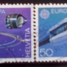 Timbres: SUIZA TEMA EUROPA CEPT CARRERA ESPACIAL SERIE DE SELLOS USADOS. Lote 193805075
