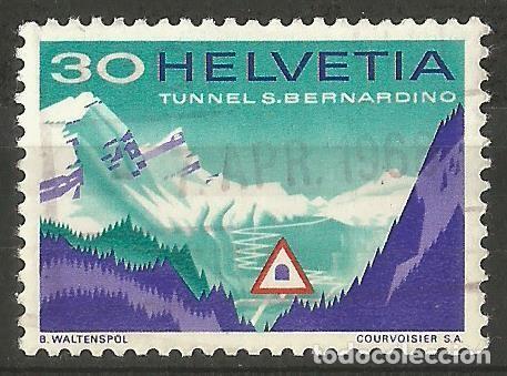 SUIZA - 1968 - TÚNEL SAN BERNHARDINO - SELLO USADO - MIRE MIS OTROS LOTES (Sellos - Extranjero - Europa - Suiza)