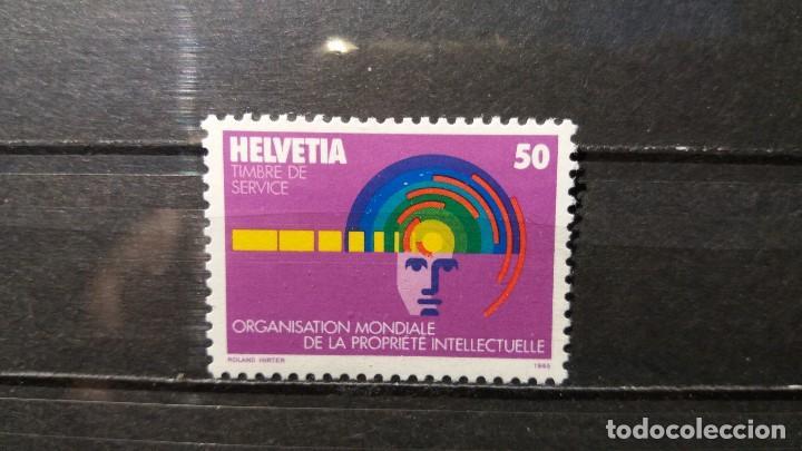 SELLO NUEVO. ORGANIZACIÓN MUNDIAL PROPIEDAD INTELECTUAL. 10 SEPTIEMBRE 1985. YVERT S463. (Sellos - Extranjero - Europa - Suiza)