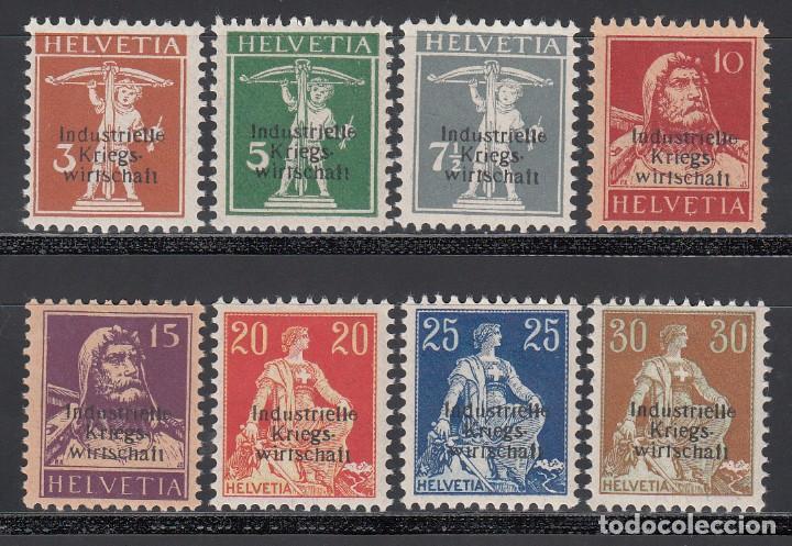 SUIZA, SERVICIO 1918 YVERT Nº 1 / 8 /*/, (Sellos - Extranjero - Europa - Suiza)