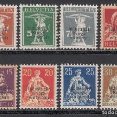 Sellos: SUIZA, SERVICIO 1918 YVERT Nº 1 / 8 /*/,. Lote 194729733