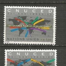Sellos: SUIZA OFICINA NACIONES UNIDAS EN GINEBRA YVERT NUM. 279/280 ** SERIE COMPLETA SIN FIJASELLOS. Lote 195124690